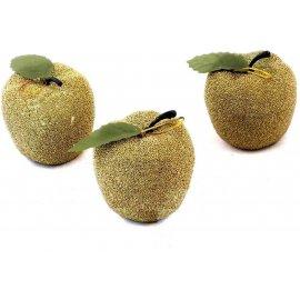 Dekoracyjne jabłuszka brokatowe 6szt.