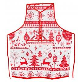 Fartuszek kuchenny z kieszonką MERRY CHRISTMAS świąteczny