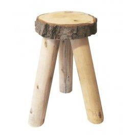 Drewniany stołek dekoracyjny mały
