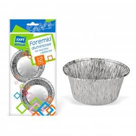 Aluminiowe foremki na muffinki i babeczki 12 szt. RAVI