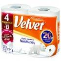 Papier toaletowy Najdłuższy 4 rolki biały Velvet