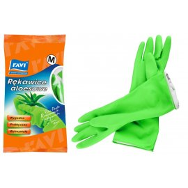 Rękawice grube lateksowe aloesowe Ravi