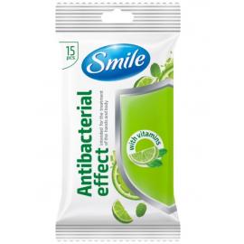 Chusteczki antybakteryjne z witaminami 15szt Smile