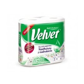 Ręcznik papierowy najdłuższy z nadrukiem Velvet 2 rolki
