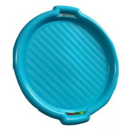 Taca okrągła niebieska 35,5x3cm DOMOTTI