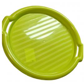 Taca okrągła zielona 35,5x3cm DOMOTTI
