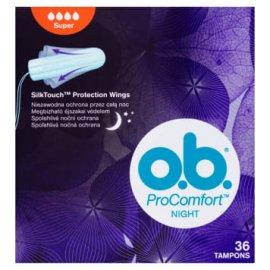 Tampony o.b. Procomfort Night Normal Silk Touch A36