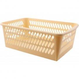 Koszyk plastikowy kremowy 28x19,5x11cm DOMEX