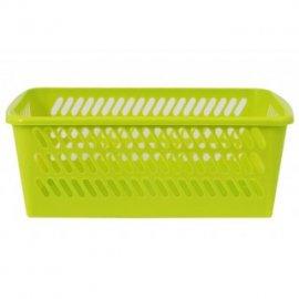 Koszyk plastikowy zielony 28x19,5x11cm DOMEX