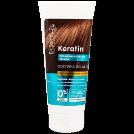 Odżywka do włosów z keratyną, argininą i kolagenem do włosów matowych i łamliwych dr Sante