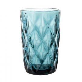 Szklanka do wody Grid 340 ml niebieska Florina