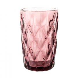 Szklanka do wody Grid 340 ml różowa Florina