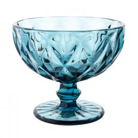 Pucharek do lodów Grid 400ml niebieski Florina