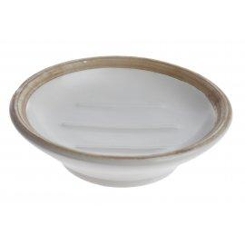 Ceramiczna mydelniczka prostokątna czarna 11,5cm