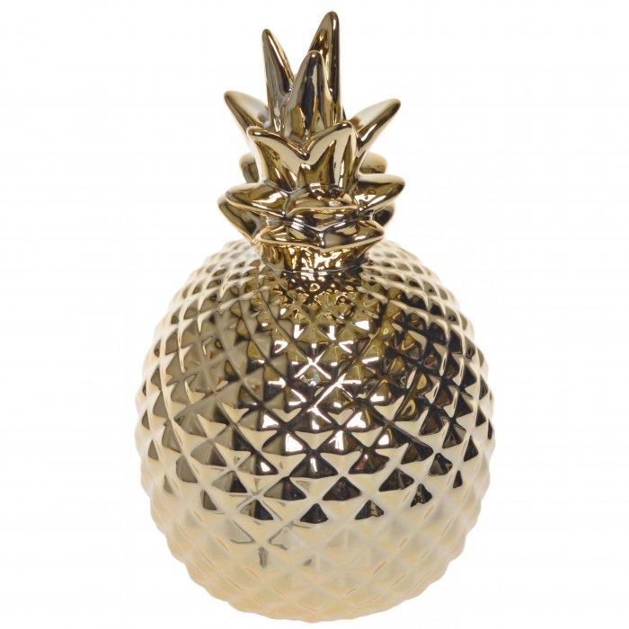 Ceramiczny wazon złoty Ananas 18cm