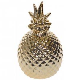 Ceramiczna figurka złota Ananas 13cm