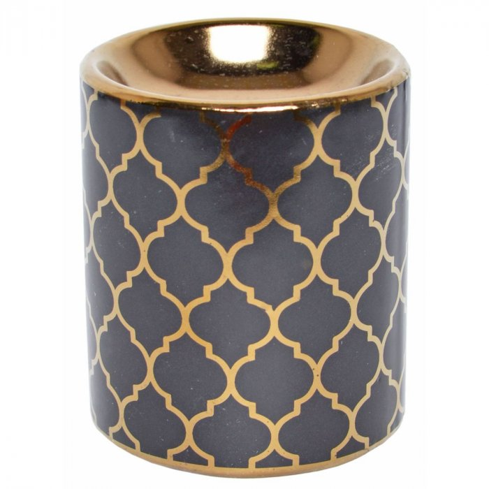 Kominek na olejek Maroccan czarny 9cm