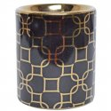 Kominek na olejek czarny w złote wzory 9cm