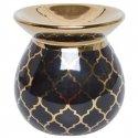 Kominek na olejek czarny Marrocan okrągły 9cm
