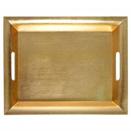 Taca prostokątna złota 38x30 cm