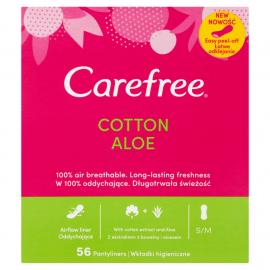 Wkładki higieniczne Carefree Cotton Aloe 56 szt