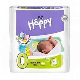 Pieluszki dla wcześniaków HappyBefore Newborn (0) do 2kg - 46szt