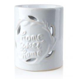 Kominek na olejek zapachowy 10x8cm Home Sweet Home biały