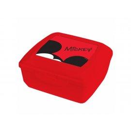 Pojemnik śniadaniowy Mickey czerwony 14,5 x 13 cm DISNEY / AMBITION