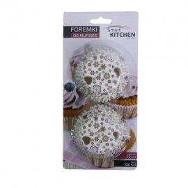 Papierowe foremki na muffinki 100szt. brąz SmartKitchen