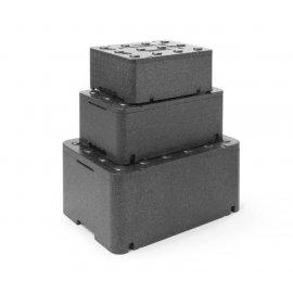 Pojemnik termoizolacyjny z piocelanu, o wym. 400x300x173 mm, 12,94L