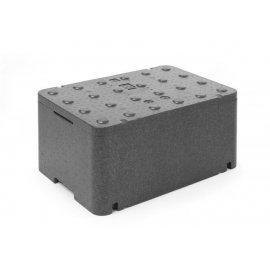 Pojemnik termoizolacyjny z piocelanu, o wym. 600x400x296 mm, 47,67L