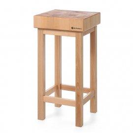 Kloc masarski drewniany na podstawie drewnianej 500x150