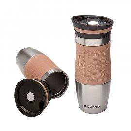 Kubek termiczny KonigHOFFER Loara 400 ml cappuccino Tadar