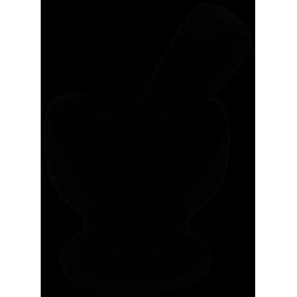 Moździerz Kamienny z tłuczkiem czarny
