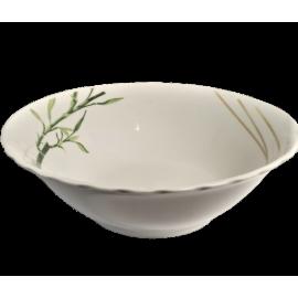 Salaterka porcelanowa okrągła bambus 22cm Tadar
