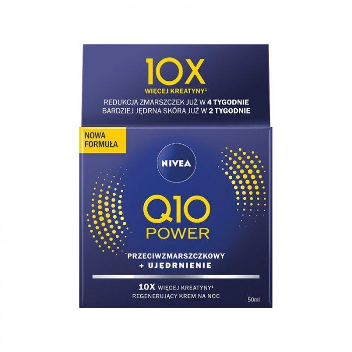 Q10 plus krem nawilżający przeciwzmarszczkowy na noc Nivea