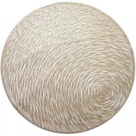 Mata stołowa okrągła Glamour Złoty 38 cm Ambition