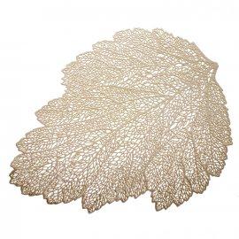 Mata stołowa Glamour Liść złoty 45x30 cm Ambition