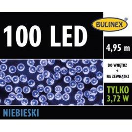 Lampki LED 100 Niebieskie z zasilaczem BULINEX