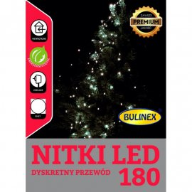 Lampki LED 180 łezki, wiązki z zasilaczem BULINEX