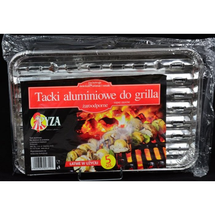 Tacki aluminiowe do grilla