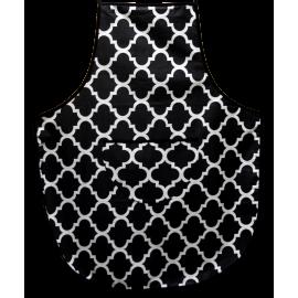 Fartuszek kuchenny czarno-biały marokański wzór