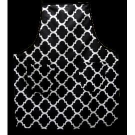 Fartuszek kuchenny czarno-biały marokański wzór prosty