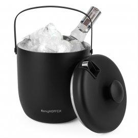 Wiaderko do lodu ze szczypcami Konighoffer Oris 2,8 l czarne