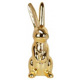 Złoty królik stojący 23,4cm EWAX