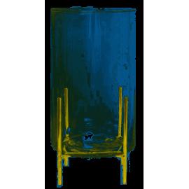 Szklany wazon na złotych nóżkach 24cm EWAX