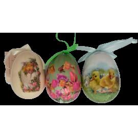 Zawieszki wielkanocne jajko 6,5 mix wzorów SACO