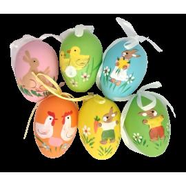 Zawieszki wielkanocne jajko 6 mix wzorów i kolorów SACO