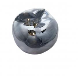 Ceramiczna figurka jabłko srebrne 13,5 cm