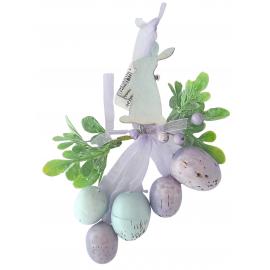Zawieszka Wielkanocna na okno zajączek z jajkami